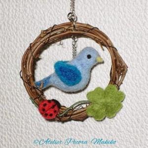 青い鳥のリース