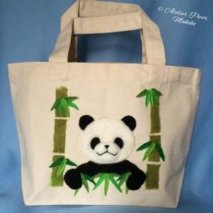 トートバッグ 竹やぶパンダ
