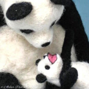親子パンダ