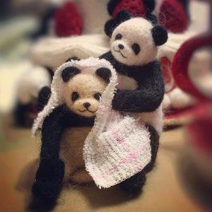 綺麗におしゃれ染めをした癒しパンダ