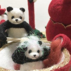 紅茶でオシャレ染めの癒しパンダ